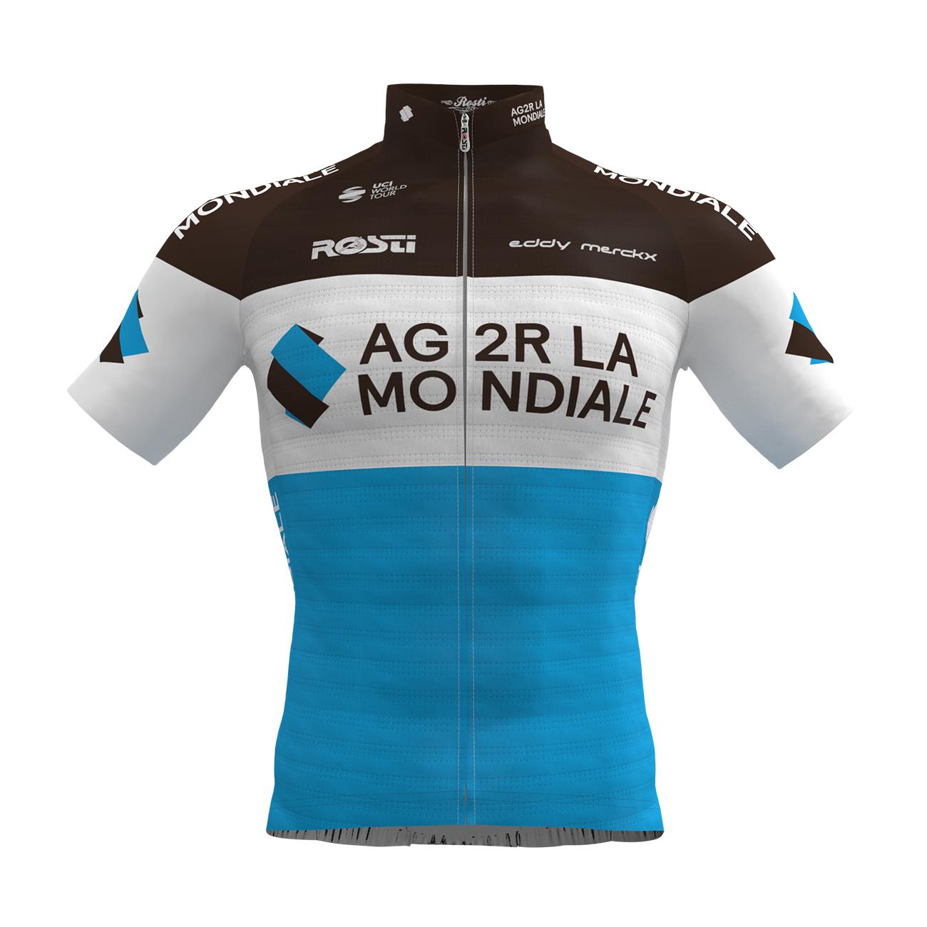 a3d4adb927404 ROSTI AG2R 2019 dres - brown/white/blue • holokolo.sk